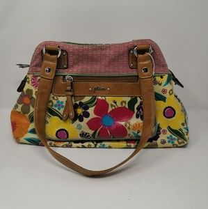 Plum flower print bag
